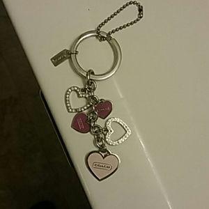 COACH Loving Hearts Key Ring